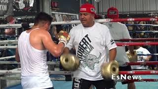 WBC 140 Champ Jose Ramirez Showing Off KO Combination EsNews Boxing