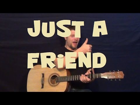 Just A Friend (Biz Markie) Easy Strum Guitar Lesson How to Play Tutorial