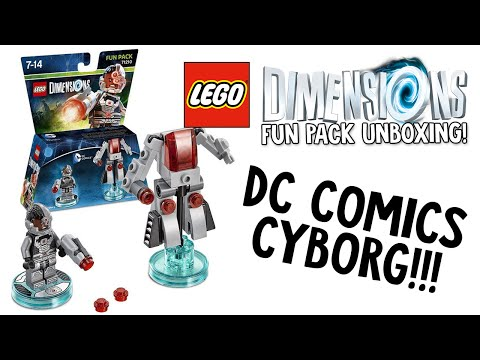 LEGO DIMENSIONS DC COMICS CYBORG FUN PACK UNBOXING!!! (LEGO Set No. 71210)