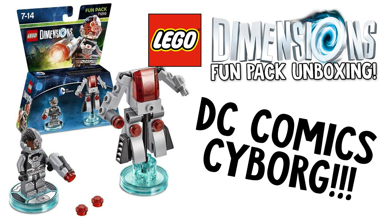 LEGO DIMENSIONS DC COMICS CYBORG FUN PACK UNBOXING ...