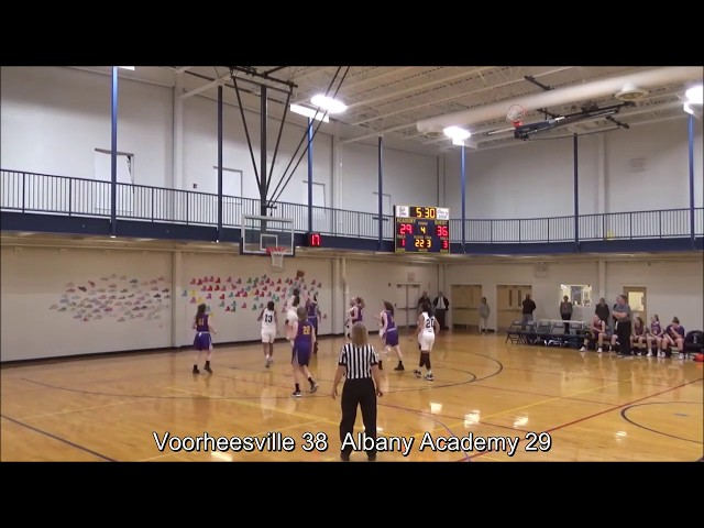 Game Highlights Girls' Varsity: Voorheesville 52 vs Albany Academy 41 (F)