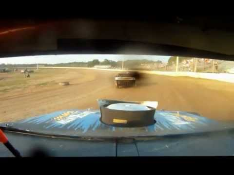 Midwest Modified Heat Race #2 at North Central Speedway on 7-14-12