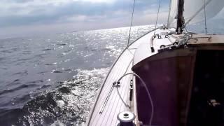 Sailing on folkboat Tea 27.8.2011