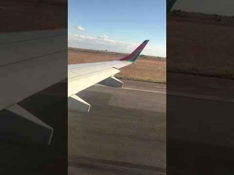 Leaving Kamuzu International Airport on Kenya Airways Embraer 190