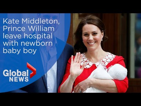 Royal baby: Kate Middleton, Prince William leave hospital with newborn son