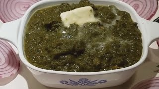 How To Cook Mixed Saag | Sarson Da Saag | Punjabi Style Recipe