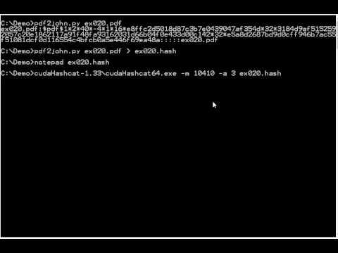 oclHashcat PDF Crypto