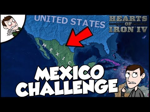 Hearts of Iron 4 HOI4 Mexico takes North America Challenge