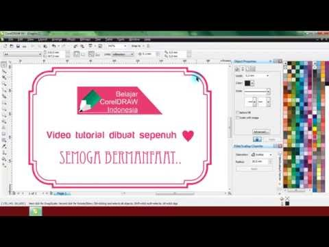 Cara Membuat Sudut Frame Melengkung di CorelDRAW | Belajar CorelDRAW