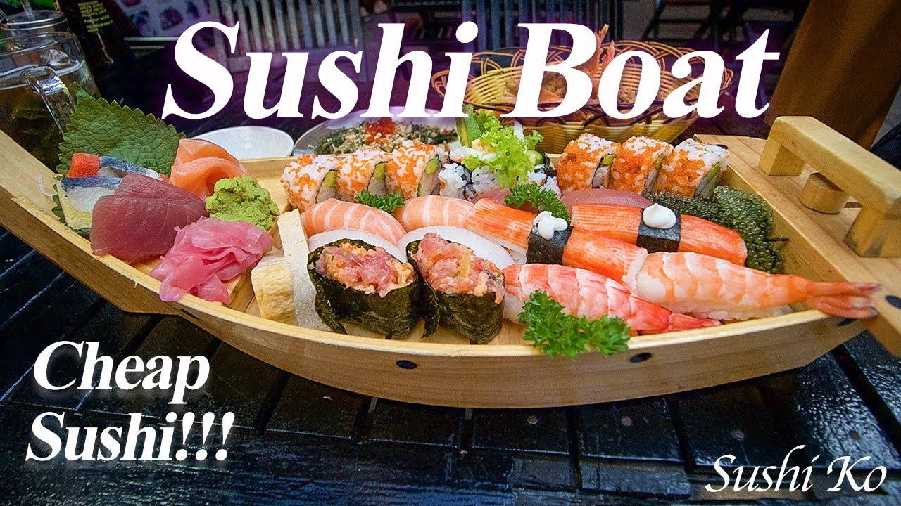 $10 SUSHI Boat 🍣 ⛵️ The BEST CHEAP Sushi in Saigon + Insanely Delicious Hanoi Delicacy In Saigon