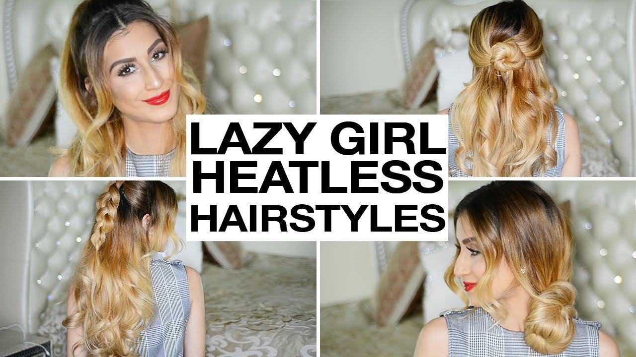 Heatless Hair Styles: 16 Heatless Hairstyles For Lazy Girls