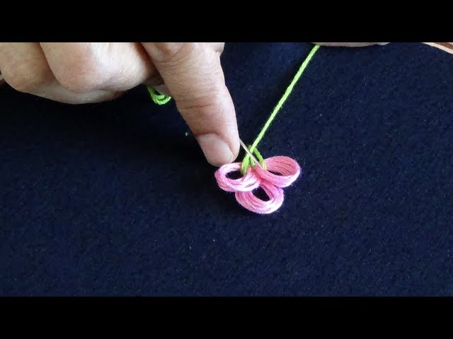 Hand Embroidery: Embroidery for all Over The Shirt (Loop Stitch)