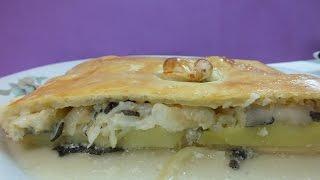 Пирог рыбный с картофелем. Секрет сочности и отменного вкуса.