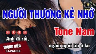 Karaoke Người Thương Kẻ Nhớ Tone Nam Nhạc Sống   Trọng Hiếu