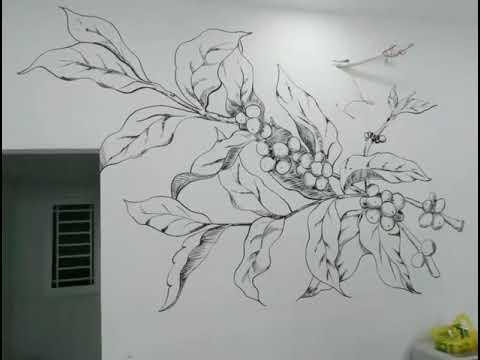 #sketch#tranhtuongcafe #lainguyen      Tranh tường cafe