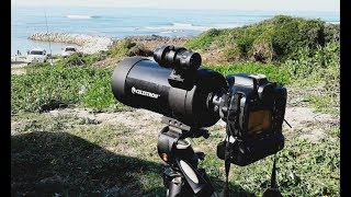 Celestron C90 + DSLR digiscopi…