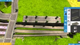 Train Fever - building a sunken train station time lapse