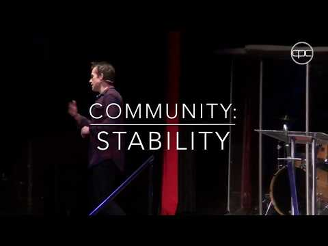 Community: Stability | Pastor Tom Griffiths