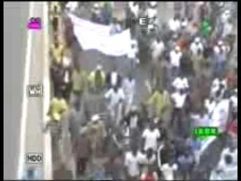 BENIN. Marche syndicale contre le scandale Cen Sad 1/3