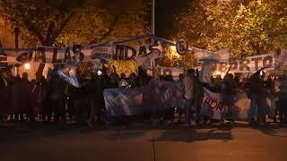 Vigilia por el debate del aborto en Mendoza