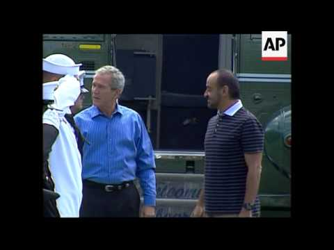 Bush welcomes emirate's crown prince to Camp David