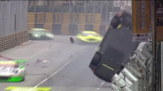 FIA GT World Cup 2016. Main Race Macau Grand Prix. Laurens Vanthoor Huge Crash Flip