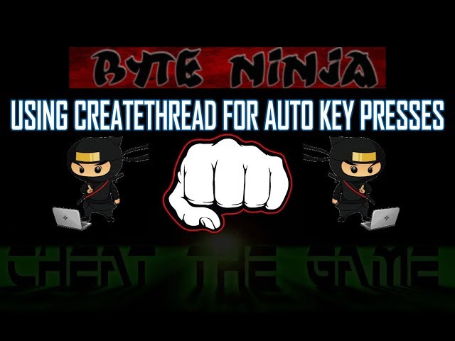 CTG Presents: Byte Ninja USING CE FOR AUTO KEY PRESSES