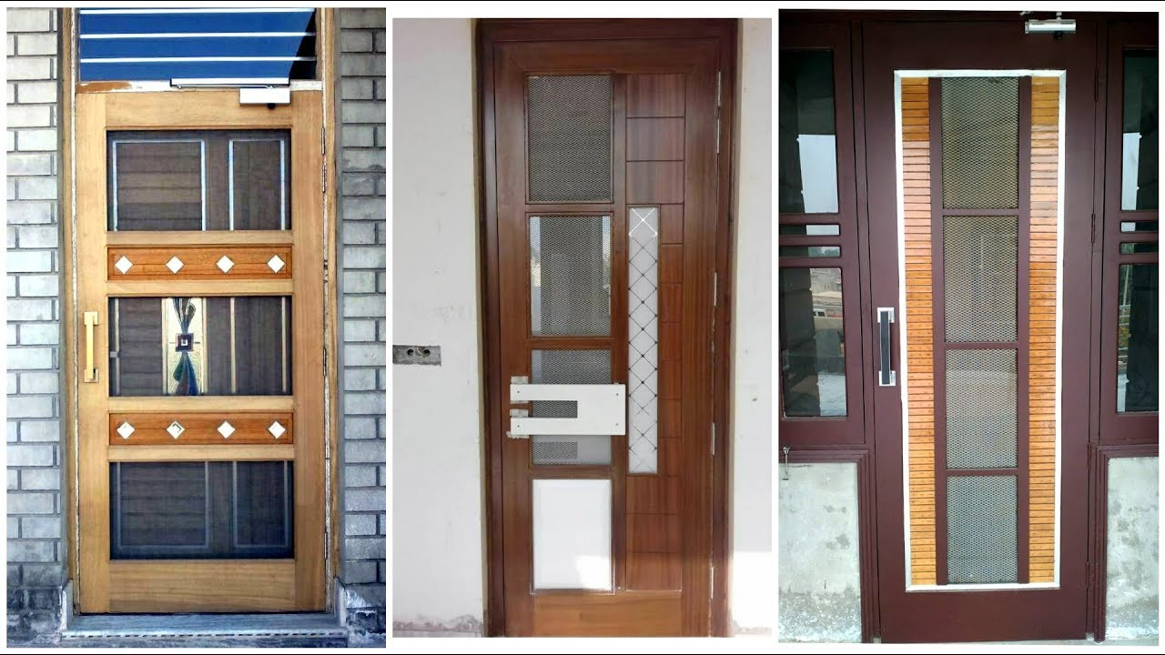 Wooden Net Door Design (Mosquito Door) - YouTube