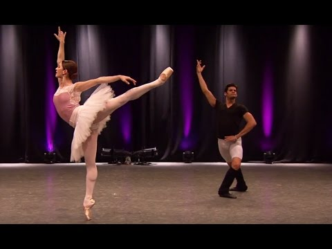 Marianela Nuñez and Thiago Soares rehearse 'Diamonds' from Jewels (The Royal Ballet)