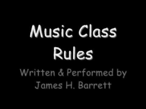 Music Class Rules (Jamie Barrett)