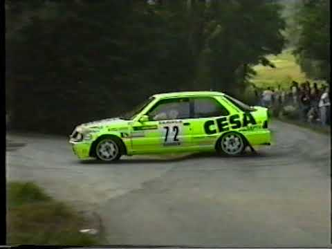 Rally della Lana 1992 vinto da Piero Longhi PS Prascorsano inversione del ponticello