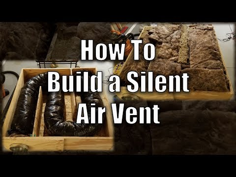 How to Build a Silent Air Vent For a Recording Studio or Home Theater