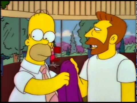 Homer hanging Scorpio