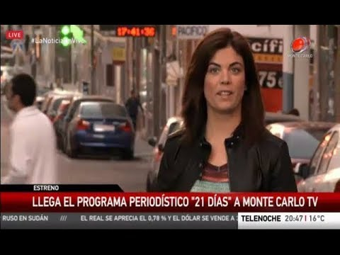 Promocionan 21 días en las noticias de Monte Carlo TV (Uruguay)