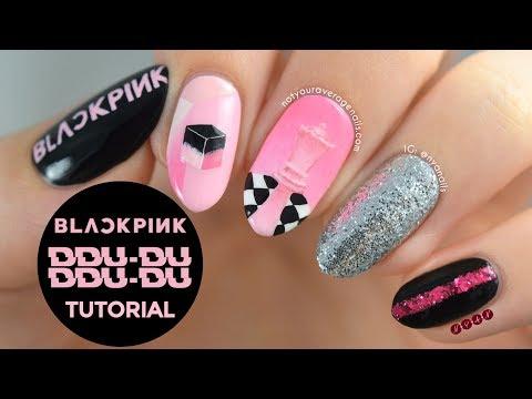 """Blackpink """"DDU-DU DDU-DU"""" Nail Art Tutorial"""