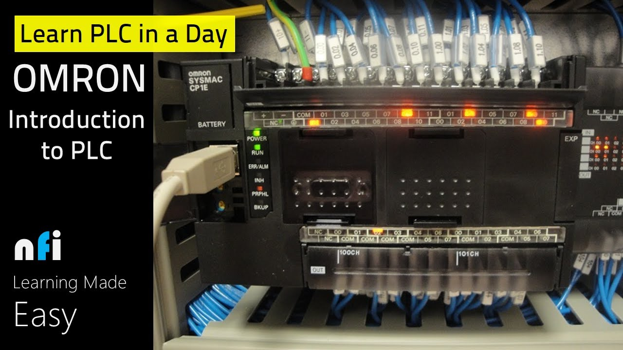 omron plc e learning lesson introduction to plc plc Wiring Diagram PDF