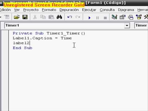 Crear programa para ver fecha y hora en visual basic 6.0