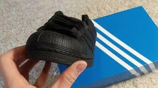adidas superstar tripleblack обзор кроссовок