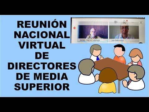 Soy Docente: REUNIÓN NACIONAL VIRTUAL  DE DIRECTORES DE MEDIA SUPERIOR