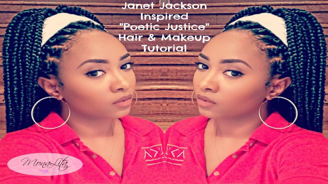 Janet Jackson Poetic Justice Makeup Amp Braid Tutorial
