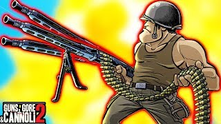 #4 Игра как мультик про зомби Guns, Gore & Cannoli 2 Война на берегах Франции