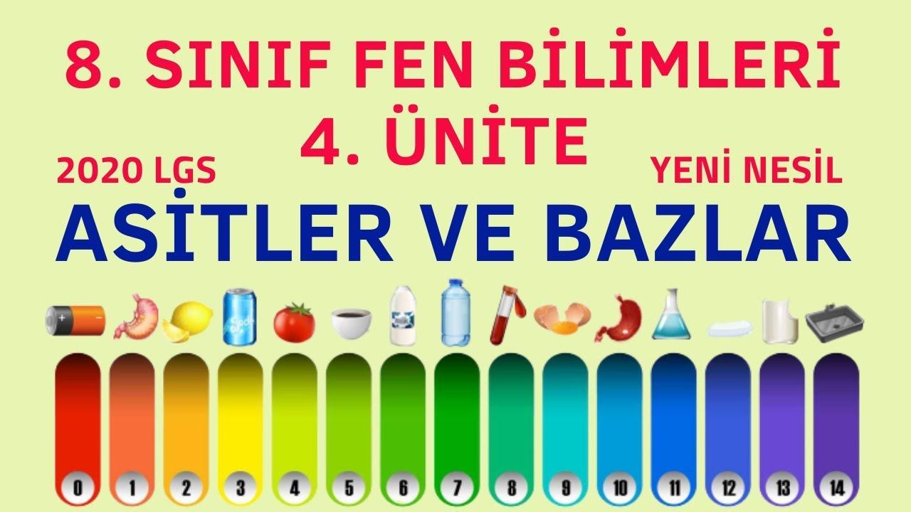 ASİTLER VE BAZLAR   8. SINIF FEN BİLİMLERİ