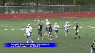 Acton Boxborough Boys Lcrosse vs Souhegan 4/30/16