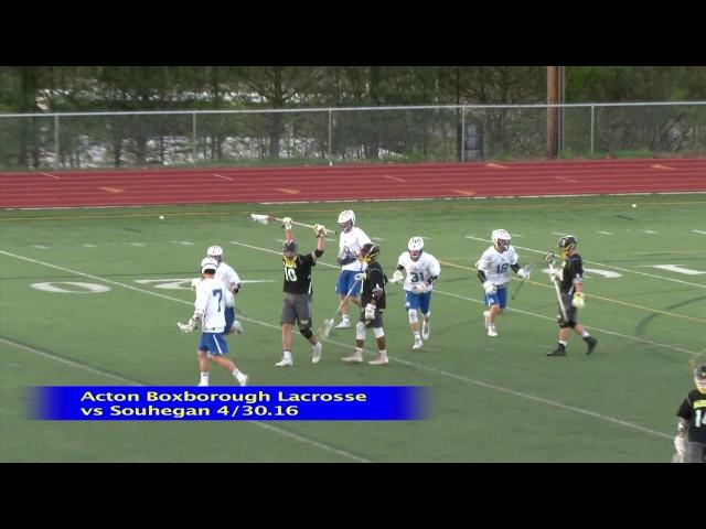 Acton Boxborough Boys Lcrosse vs Souhegan 4/30/16