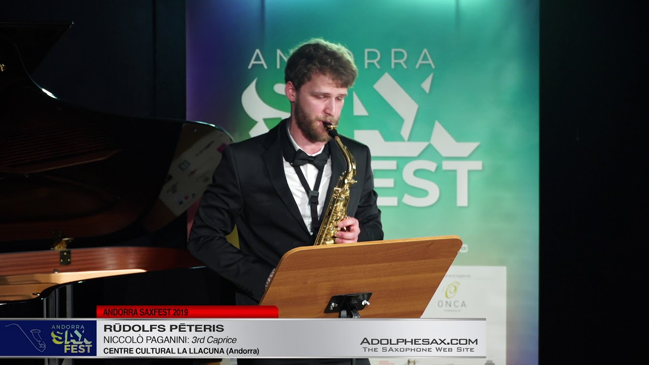 Andorra SaxFest 2019 1st Round   Rudolfs Peteris   3rd Caprice by Niccolo Paganini