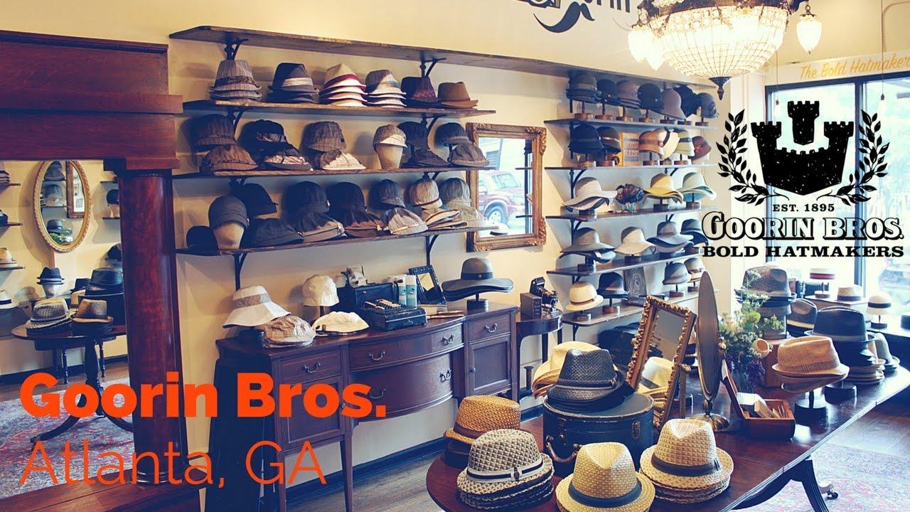 b3695959f1 Goorin Bros. Hat Shop in Atlanta - YouTube