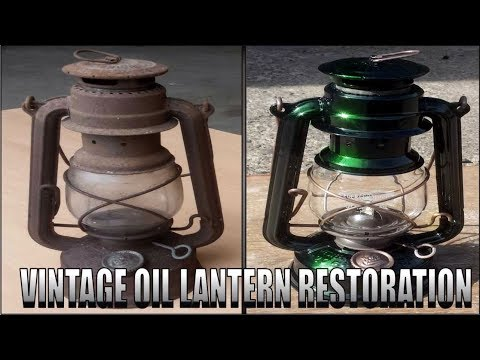 Crazy Rusty Oil Lamp Restoration..With a twist! Green Lantern
