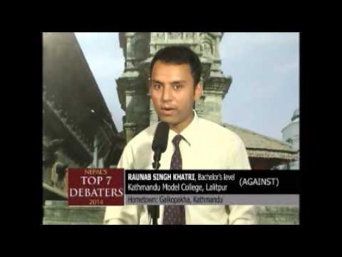 Raunab Singh Khatri, Runner up Journey, Nepal's Top 7 Debaters 2014
