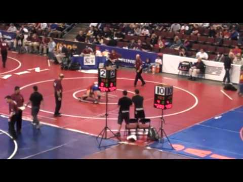 Shane Tate Oakdale in quarterfinals during State W...