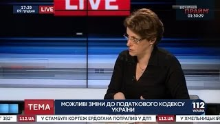 Нина Южанина, народный депутат,   гостья '112 Украина', 09 12 2016